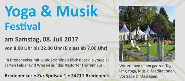 Sa. 8. Juli – Vortrag und Massage auf dem Yoga & Musik Festival in Schleswig-Holstein